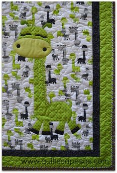 Simple Sadie ~ Modern Millie DIGITAL quilt pattern with Baby Sharkie and Giraffe applique Quilt Baby, Lap Quilts, Baby Quilts Easy, Amish Quilts, Quilting Projects, Quilting Designs, Sewing Projects, Quilting Patterns, Easy Baby Quilt Patterns