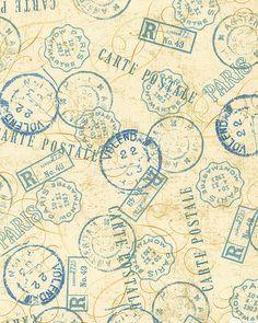 Papillon - Carte Postale - Parchment