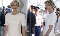 Baby on board! Princess Charlene shows hint of baby bump at yacht club