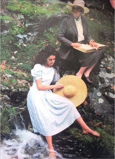 Laura Ashley in tweed on the banks of Rhydoldog, her 2,500 acre estate in Wales.