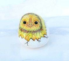 Chicken Rock Hand Painted Stone Rock Collector by JeannesJungle