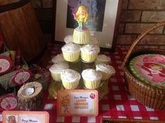 Cupcakes at a Strawberry Shortcake Party #strawberryshortcake #partycupcakes