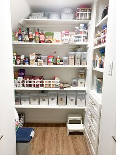 """I spent most of Saturday tackling my pantry. It was a MESS and needed some major TLC! Luckily after lots of work and a few moments of """"what was I thinking?"""" I felt better and it was finished! For me, the past few months of being stuck at home has taken a toll on our house. It's become much more cluttered and chaotic and the pantry was just one example of a messy space! If you're needing to tackle your pantry, then today's post is for you! I'm sharing all of my pantry organization essentials! Cereal Containers, Fancy Kitchens, What Was I Thinking, Ashley Home, Love Home, Pantry Organization, Clean House, Shelving, Kitchen Design"""