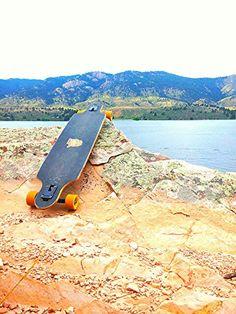 Longboarding in the Rockies of Colorado.