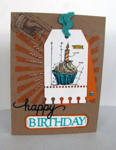 Tim Holtz Birthday Card
