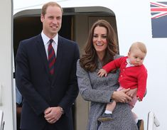 Prince William, Duchess of Cambridge and Prince George leaving Australia