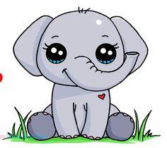 Kawaii Girl Drawings, Sweet Drawings, Cute Animal Drawings Kawaii, Cute Easy Drawings, Cute Little Drawings, Cartoon Drawings, Doodles Kawaii, Cute Doodles, Arte Do Kawaii
