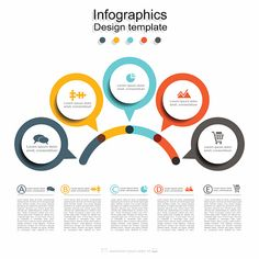 Infographic design template with place for your data. - Infographic design template with place for your data. Vector… Infographic design template with - Circle Infographic, Creative Infographic, Infographic Templates, Fashion Infographic, Process Infographic, Coffee Infographic, Infographics Design, Timeline Infographic, Web Design