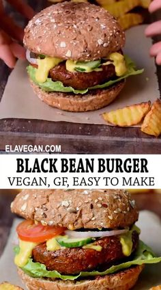 Tasty Vegetarian Recipes, Vegan Dinner Recipes, Whole Food Recipes, Cooking Recipes, Healthy Recipes, Vegan Gluten Free Burger Recipe, Lunch Ideas Vegan, Easy Fast Recipes, Vegan Burger Recipe Easy