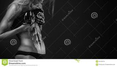 Nice Fitness Woman Showing Abdominal Muscles Stock Photo - Image: 62443216