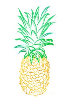 Pineapple Giclee by thepinkpagoda on Etsy, $30.00