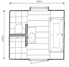 Ideeen voor de nieuwe badkamer - kleine badkamer met afgescheiden toilet