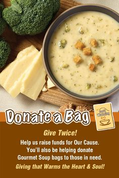 Use this Pin to help Promote your Group's www.DONATEaBag.org Soup Fundraiser and share with Friends and Family! Raise Funds, Cheeseburger Chowder, Earn Money, Fundraising, Soup, Friends, Bags, Gourmet, Amigos