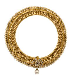A gold necklace by Jewadhi Jewels. Gold jewellery can be as modern and traditional at the same time. Pair it with a white chic dress or a black sari. A wedding shopper & stylist for weddings - Bridelan. Website www.bridelan.com #Bridelan