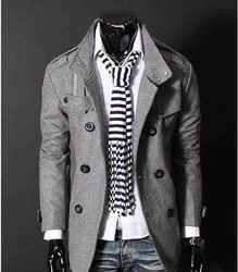 Online Shop Free Shipping Mens Trench Coat Double Breasted Slim Stand Collar Wind Jacket Woolen F17|Aliexpress Mobile