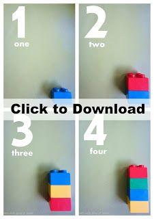 Duplo Number Cards