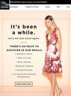 Lets stay together. Saks Fifth Avenue - Email Template - Ideas of Email Template - Lets stay together. Saks Fifth Avenue Advertising And Promotion, Online Advertising, Advertising Companies, Email Template Design, Email Templates, Goodbye Email, B2b Email Marketing, Engagement Emails, E-mail Design