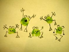 frog theme thumbprints card - Google Search