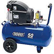 Draper 24981 50 Litre Air Compressor 1.5 Kilowatt 230 Volts