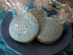 Sugar Cookies custom blue baby shower favors by cakeascanvas, $36.00