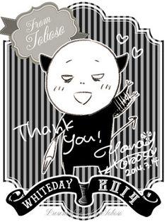 Black Butler ~~ The creator Yana Toboso Herself wishing you a Happy White Day!