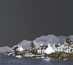 Landscape Paintings and photographs : Ron Lawson Landscape Art, Landscape Paintings, House Paintings, Wester Ross, Illustrations, Illustration Art, Art Techniques, Online Art, Amazing Photography