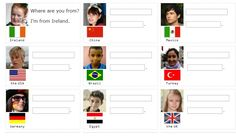 English    is    FUNtastic: Where are you from? - video and interactive exerci...