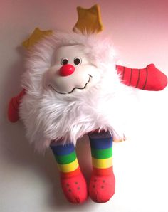 Rainbow Brite Twink White Sprite Plush Stuffed Toy Doll Animal from the 1980s.