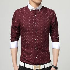 2ddf6d11df8 Men s High Fashion White Collar Business Shirt Up To 5XL