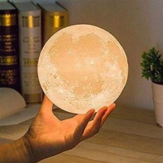 MiniTeasure Baby Moon Night Lamp ABS with Wooden Stand2