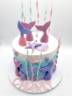 Ocean Cakes, Mermaid Cakes, Yum Yum, Birthday Ideas, Treats, Children, Sweet Like Candy, Young Children, Goodies