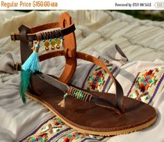A personal favorite from my Etsy shop https://www.etsy.com/il-en/listing/290302089/sale-leather-sandals-bohemian-chic