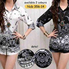 Malika batik black n white 66rb