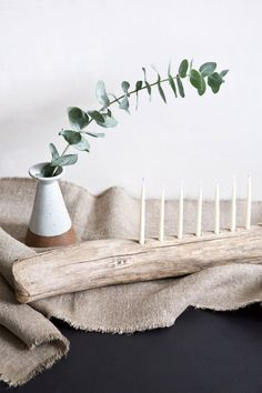 A DIY Menorah for Hanukkah