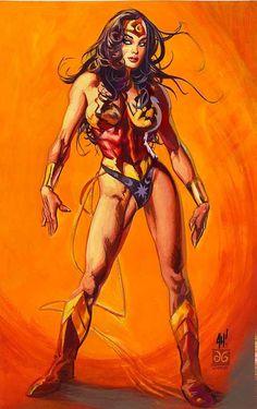 Wonder Woman by Adam Hughes and Dan Brereton