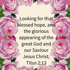 Titus 2:13 looking for that blessed hope