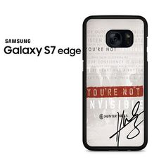 Invisible Hunter Hayes Lyric Quotes With Signature Samsung Galaxy S7 Edge Case