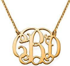 Gold Monogram Necklace - My Name Necklace