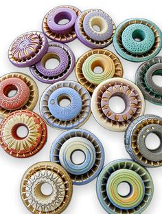 Polymer Clay Beads by Julie Picarello | Featured on PCDaily