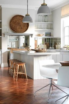 Wood  White - Kitchen Design Ideas  Pictures – Decorating Ideas (houseandgarden.co.uk)