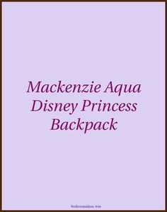 Mackenzie Aqua Disney Princess Backpack | Disney Princess Bedding |  Disney Princess Bedroom   | Princess Room Ideas On A Budget | Disney Princess Wall Decor. #instadecor #Princess Merchandise Disney Princess Bedding, Disney Princess Backpack, Princess Room, Teenage Girl Bedrooms, Girls Bedroom, Aqua, Room Ideas, Budget, Wall Decor