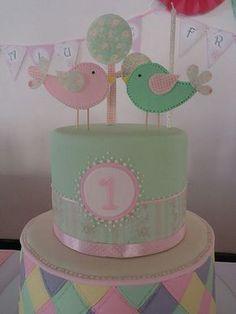 Torta pajaritos Owl Birthday Parties, First Birthday Cakes, Birthday Cake Girls, Baby Birthday, Torta Baby Shower, Bird Party, Bird Cakes, Love Cake, Cute Cakes