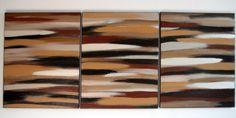 Coffee Shop-ish  Original Acrylic Abstract Painting  48 X 20