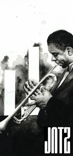 Jazz Bar Flyer 2003 by Aslan Malik, via Behance