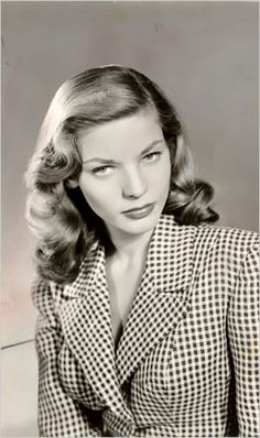 Lauren Bacall love the hounstooth