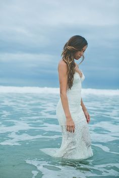 Beach worthy wedding dresses from @katiemayla. Shop here.