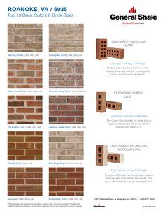 Roanoke Va Top 10 Brick Colors