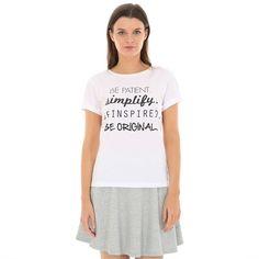 Cute white simple tshirt - T-shirt con messaggio - Collezione T-SHIRT - Pimkie Italia