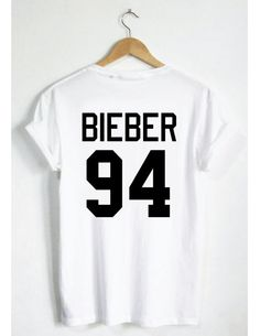 Justin Bieber 94 T-Shirt Belieber Jersey Style by SPARKEDclothing