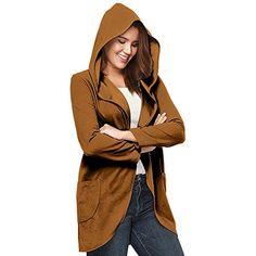 5ddafd0b617a JUTOO Manteau Femme Hiver Chaud Long Femmes Chic Grande Taille Coupe-Vent  Veste à Capuche